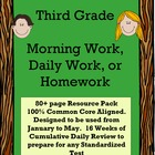 Third Grade Daily Morning Work Common Core