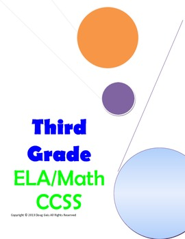Common Core Checklist Third Grade ELA and Math