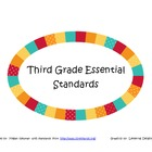 Third Grade Essential Standards