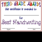 "Third Grade ""FUN"" Awards"