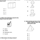 Third Grade Geometry Test Quiz Asssessment VA SOL 3.14, 3.