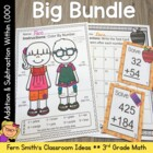 Third Grade Go Math Chapter One Mega Bundle for 3.NBT.A.1