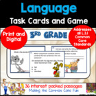 3rd Grade Language Task Cards (and Game)!