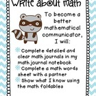 Third Grade Math Centers: Write about Math