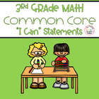 Third Grade Math Common Core 1st, 2nd, and 3rd Trimester -