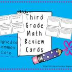 Third Grade Math Review Cards Set #1