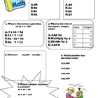Third Grade Math Review (Middle - End of year) Version 2
