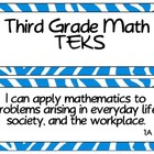 Third Grade Math TEKS Cards