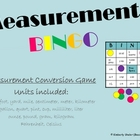 Third Grade Measurement BINGO