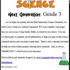 Third Grade Science Common Core Organizer