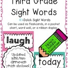 Third Grade Sight Words ~ Easy to Display