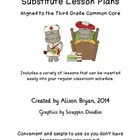 Third Grade Substitute Lesson Plans- Common Core Aligned
