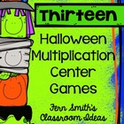 Thirteen Halloween Multiplication Center Games