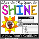 This Is My Year To SHINE - A Craftivity For The New Year