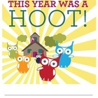 This Year Was A Hoot: End of School Year Journal
