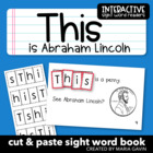 """This is Abraham Lincoln"" Interactive Sight Word Reader"