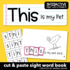 """This is my Pet"" Interactive Sight Word Reader"