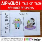 This or That Alphabet Writing Prompts
