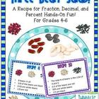 Three-Bean Salad Fraction, Decimal, and Percent Task Cards