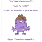 Three Billy Goats Gruff~Troll GUESS MY NUMBER activity