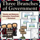 Three Branches Government Checks & Balances Interactive Po