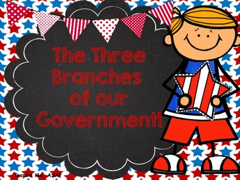 Three Branches of Government Interactive Graphic Organizer!