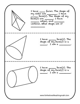 Three Dimensional Figure Packet
