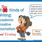 Three Kinds of Writing: Academic, Creative,  & Journalism