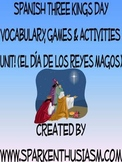 Three Kings Spanish Vocabulary Activities & Games Unit /