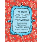 Three Little Kittens subtraction math journal - facts within 10
