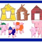 Three Little Pigs Houses Clip Art
