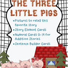Three Little Pigs Picture Cards - Literacy and Math Connections