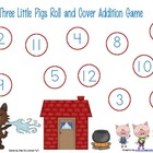 Three Little Pigs Roll and Cover Addition Game