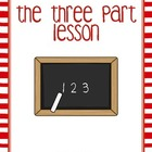 Three Part Lesson Posters