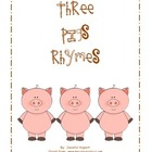 Three Pigs Rhymes - Rhyming Activity for Word Work