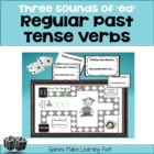 Three Sounds of &quot;ed&quot; Past Tense Verbs - Grammar Games and 