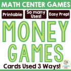 Three-in-One Money Card Games - Matching and Comparing