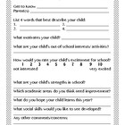 Through Your Eyes: Parent Questionnaire