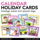 Through the Year Calendar Holiday Cards