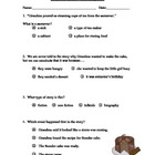 Thunder Cake Reading Comprehension Quiz/Test ~ Houghton Mifflin®
