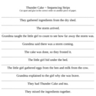 Thunder Cake Sequencing Sentence Strips ~ Houghton Mifflin