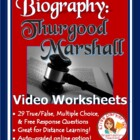 Thurgood Marshall 29 Questions based on A&E Biography - Ex
