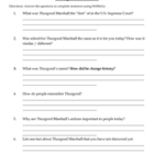 Thurgood Marshall worksheet