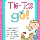 Tic-Tac-GO Word Work Choice Boards (summer theme)