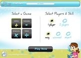 Tic Tac Math Fractions Interactive Math Game Application - For PC