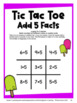 Tic Tac Toe Addition Facts