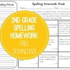 Tic-Tac-Toe Spelling Homework (freebie)