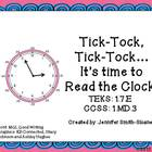 Tick-Tock, Tick-Tock... It's Time to Read the Clock (Hour