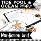 Tide Pool and Ocean Animal Fun Unit! Common Core Aligned