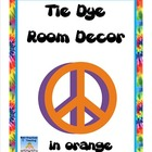 Tie Dye Classroom Mega Decor Pack--In Orange